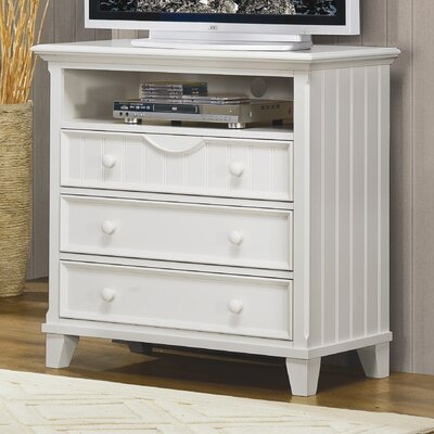 In store financing Alyssa 3 Drawer Media Dresser Finis...