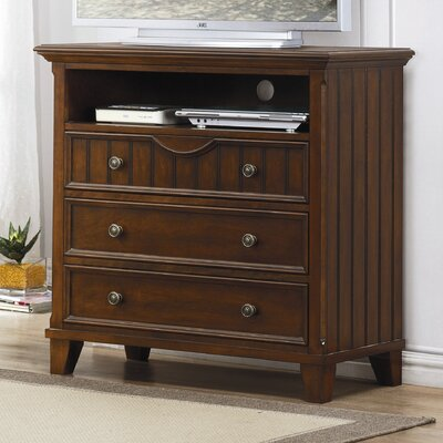 No credit financing Alyssa 3 Drawer Media Dresser Finis...