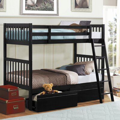 Woodbridge Home Designs Leslie Twin over Twin Bunk Bed with Storage at Sears.com