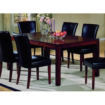 Woodbridge Home Designs 712 Series Frosted Glass Top Dining Table In Cherry