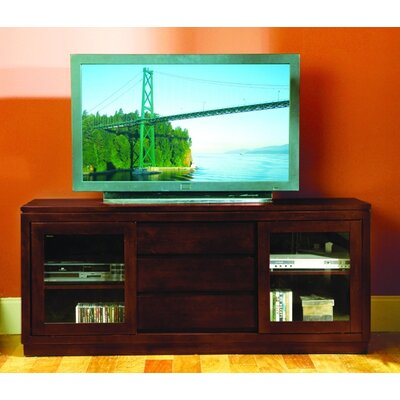 Cheap Woodbridge Home Designs 8023 Series 64″ TV Stand with Sliding Doors in Dark Cherry (HE3342)