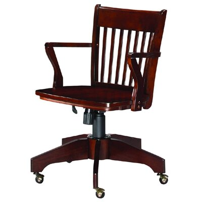 Wooden Cherry  Off White Cottage Style Havertys Office Desk Chair