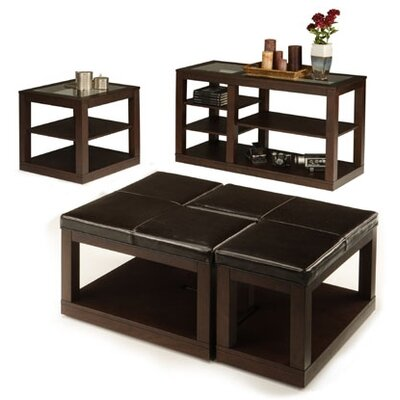 Furniture Living Room Furniture Table Leather Ottoman Cocktail Table