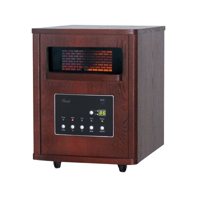 1,500 Watts Portable Electric Infrared Cabinet Heater with Thermostat and Remote