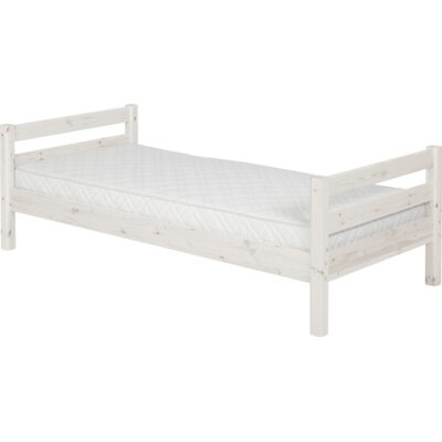 Twin Slat Bed Color: Whitewash