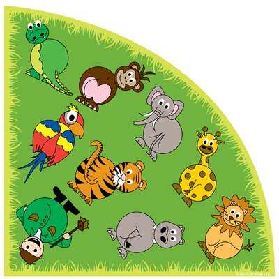 Town and Country Zoo Animals Kids Rug