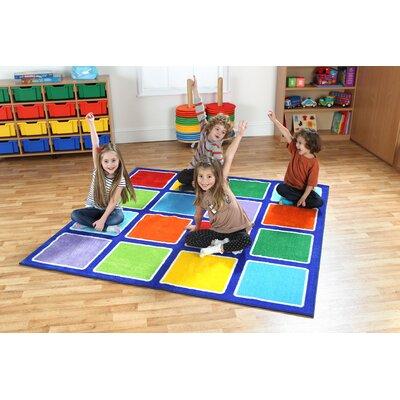 Blue/Green Kids Rug Rug Size: Square 67