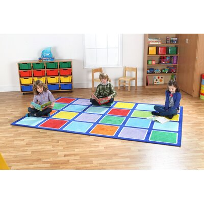 Blue/Green Kids Rug Rug Size: Rectangle 910 x 67
