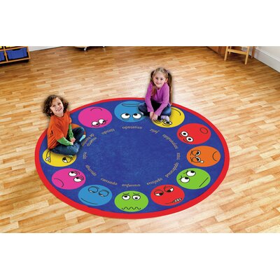 Blue/Red Kids Rug