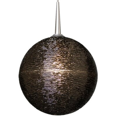 Dazzle II 1-Light Globe Pendant Color: Chrome, Shade Color: Black