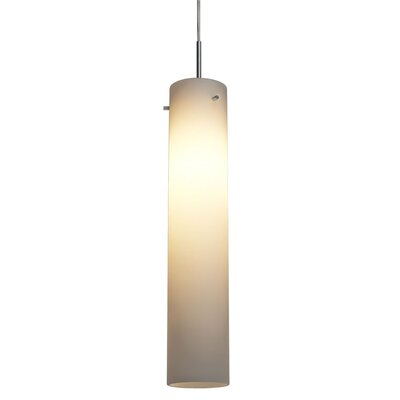 Titan II 1-Light Mini Pendant Color: Matte Chrome, Bulb Type: Compact Fluorescent, Mounting: Zonyx matte chrome