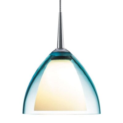 Rainbow 1-Light Mini Pendant Finish: Matte Chrome, Shade Color: Turquoise