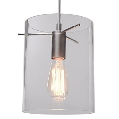 London 1-Light Mini Pendant Finish: Matte Chrome, Shade Color: Clear