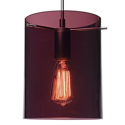 London 1-Light Mini Pendant Finish: Bronze, Shade Color: Amethyst