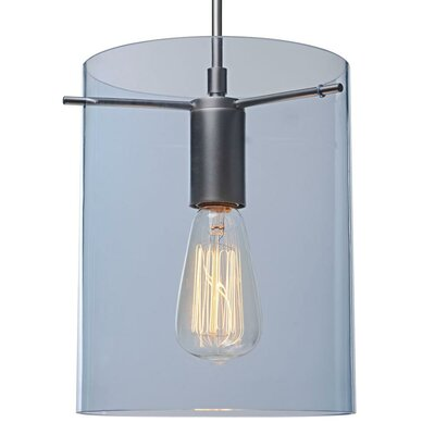 London 1-Light Mini Pendant Color: Matte Chrome, Shade Color: Aqua