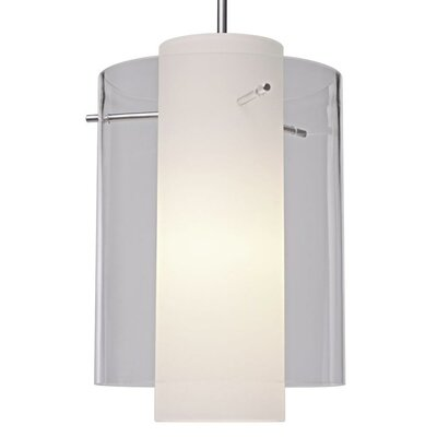 Rome 1-Light Mini Pendant Color: Chrome, Shade Color: Red, Bulb Type: Compact Fluorescen