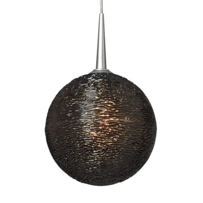 Dazzle 1-Light Globe Pendant Finish: Matte Chrome, Shade Color: Black