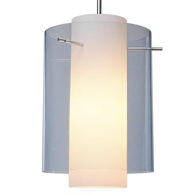 Rome 1-Light Mini Pendant Color: Matte Chrome, Shade Color: Aqua, Bulb Type: Compact Fluorescen