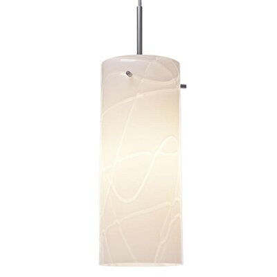 Luca 1-Light Mini Pendant Color: Chrome, Shade Color: White