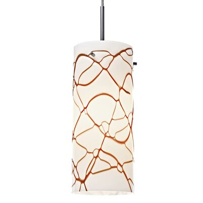 Luca 1-Light Mini Pendant Color: Chrome, Shade Color: Latte