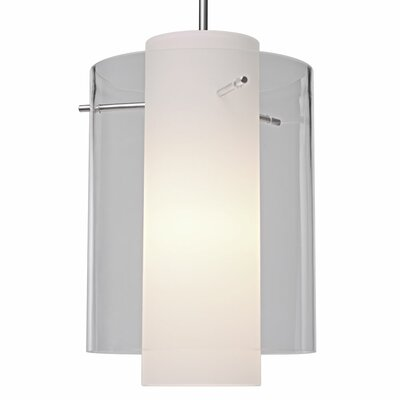 Rome 1 LED Integrated Bulb Mini Pendant Finish: Matte Chrome, Shade Color: Clear