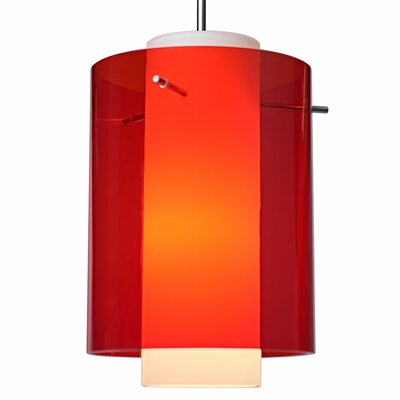 Rome 1 LED Integrated Bulb Mini Pendant Finish: Matte Chrome, Shade Color: Aqua