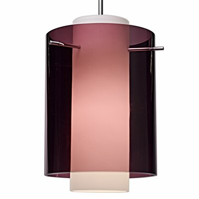 Rome 1 LED Integrated Bulb Mini Pendant Color: Matte Chrome, Shade Color: Amethyst
