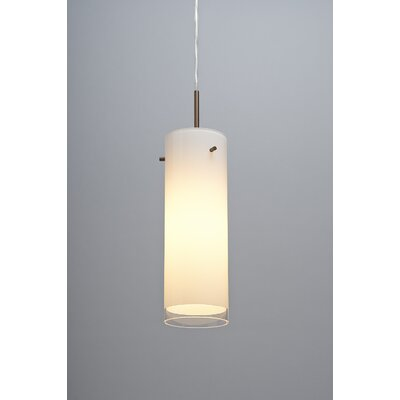 Cyrus 1 LED Integrated Bulb Monopoint Pendant Color: Bronze