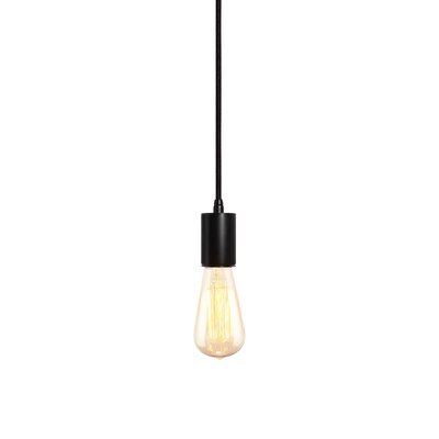 Gents 1-Light Mini Pendant Finish: Black