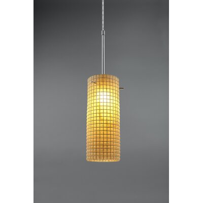 Sierra 1-Light Mini Pendant Color: Chrome, Shade Color: Amber