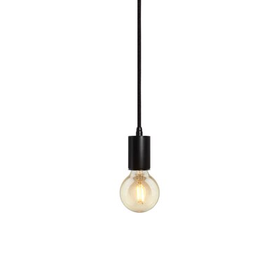 Gents 1-Light Pendant Finish: Black