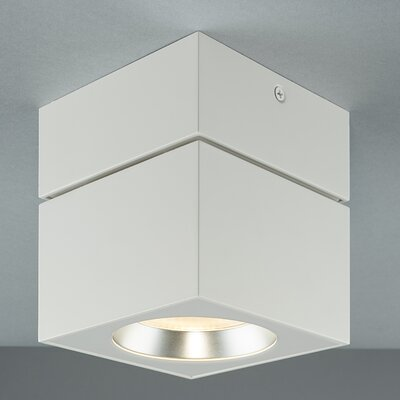 Surface Square Flush Mount Color: White