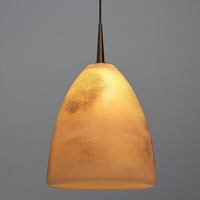 Alexander 1-Light Monopoint Track Pendant Finish: Bronze, Shade Color: Tangerine
