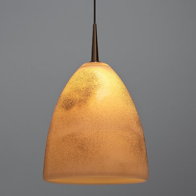 Alexander 1-Light Monopoint Line Voltage Track Pendant Shade Color: Cream, Finish: Bronze