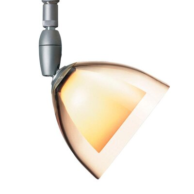 Rainbow 1 Light Spot Light Finish: Matte Chrome, Shade Color: Smoky, Bulb Type: 50W halogen GY6.35