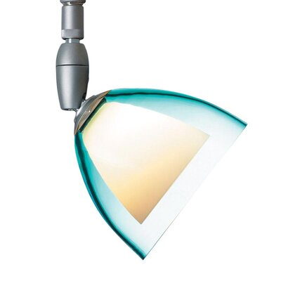 Rainbow 1 Light Spot Light Finish: Matte Chrome, Shade Color: Turquoise, Bulb Type: 50W halogen GY6.35