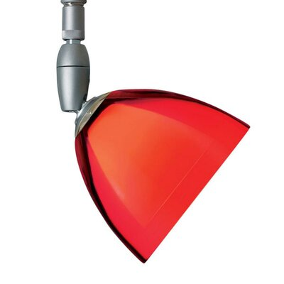 Rainbow 1 Light Spot Light Finish: Matte Chrome, Shade Color: Red, Bulb Type: 50W halogen GY6.35