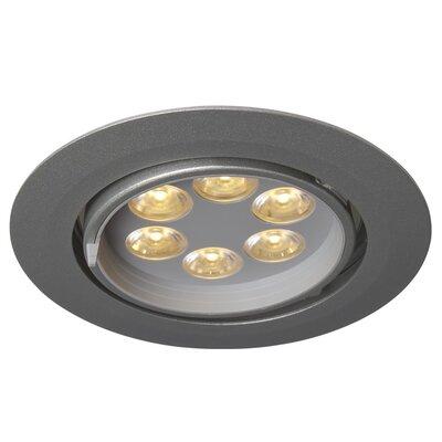 Ledra G6 Gimbal LED Recessed Individual Spotlight Finish: Matte Chrome