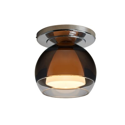 Matrix 1-Light Semi-Flush Mount Finish: Chrome