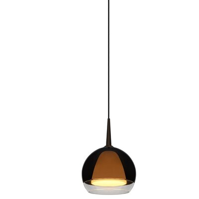 Matrix 1-Light Bowl Pendant Color: Chrome