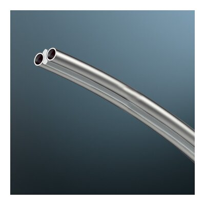 V/A Factory Curved Track Supports in 0.4 H x 67 W/Matte Chrome/Vertical