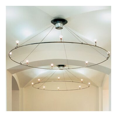 Ring Ceiling Fixture Finish: Matte Chrome, Size: 60