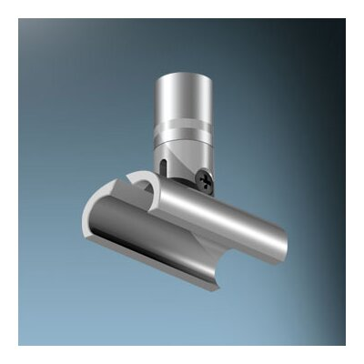 V/A 1 X 1.5 Wall/Ceiling Mounting Clip Finish: Matte Chrome