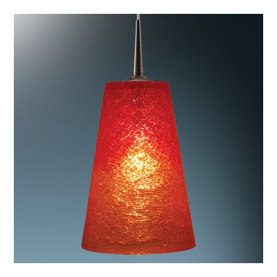 Bling II 1-Light Mini Pendant Shade Color: Sunrise, Finish: Chrome, Installation: Track