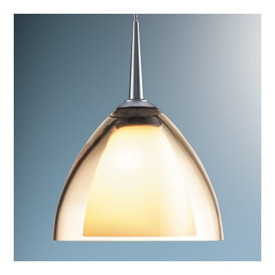 Rainbow 1-Light Mini Pendant Color: Chrome, Shade Color: Smoky