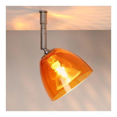 Rainbow 1 Light Spot Light Finish: Bronze, Shade Color: Orange, Bulb Type: 50W halogen GU5.3 MR-16