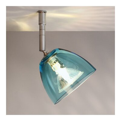 Rainbow 1 Light Spot Light Finish: Bronze, Shade Color: Turquoise, Bulb Type: 50W halogen GU5.3 MR-16