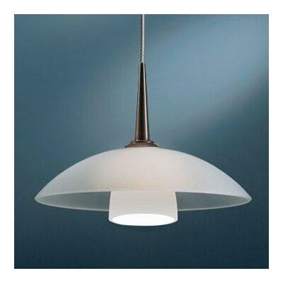 Jas 1-Light Down Light Pendant Canopy/Bulb type: 4 Canopy/Halogen, Color: Bronze, Glass Color: White Matte