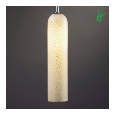 "BRUCK Chianti One Light LED Pendant with Canopy - Canopy Size: 2"" with Junction Box, Finish: Matte Chrome, Shade Color: Brown and Blue at Sears.com"