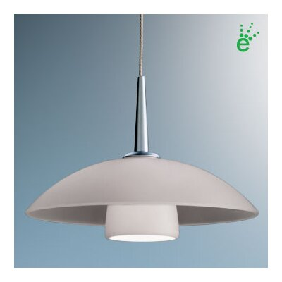 "BRUCK Jas One Light LED Down Large Pendant - Canopy Size: 2"" with Junction Box, Finish: Bronze, Glass Color: Blue at Sears.com"